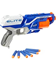 Nerf Disruptor Elite Blaster -- 6-Dart Rotating Drum, Slam Fire, Includes 6 Official Nerf Elite Darts -- for Kids, Teens, Adults