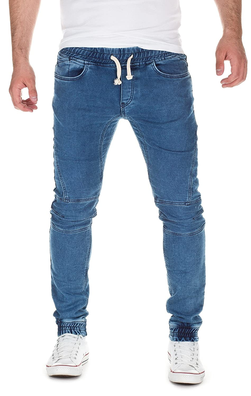 Jeans mit gummibund am beinende herren