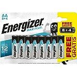 Energizer - Pilas alcalinas MAX Plus AA LR6, 12 undiades, Alta tecnologia y Rendimiento