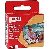 APLI 94 - Pack de 250 fijafotos autoadhesivos, 10 x 16 mm