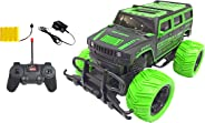 Popsugar 1:20 Off Roader Monster Truck with Remote Control Rechargeable Toy for Kids, Green