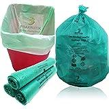 PRAKRUTIK Plastic Garbage Bags, Green, Small, 90 Bag