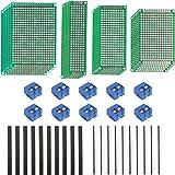 LAITER PCB Board Prototipo doble cara Tiras de placa pruebas Millefori Placa de circuito impreso Arduino Millefori Perforado