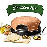 Emerio Pizzaoven, het origineel, handgemaakte terracotta kleikap, gepatenteerd design, voor mini-pizza, echt familieplezier N