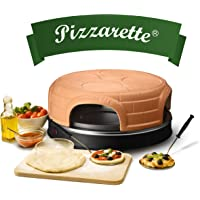 Emerio PO-115847.1 Four à pizza Terre cuite, noir