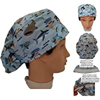Cappello veterinario SQUALI per Capelli Lunghi, chirurgia, dentista, veterinario, cucina, Asciugamano davanti…