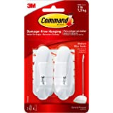 Command Wire Hooks with Strips - Medium, White