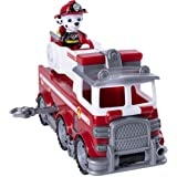 Paw Patrol 6053367 Ultimate Rescue, Marshall's Ultimate Rescue Fire Truck with Moving Ladder and Flip-open Front Cab, for Ages 3 and Up, Multicolour