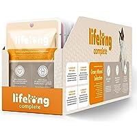 Marchio Amazon - Lifelong Alimento completo per gatti adulti- Selezione mista in salsa, 2,4 kg (24 sacchetti x 100g)