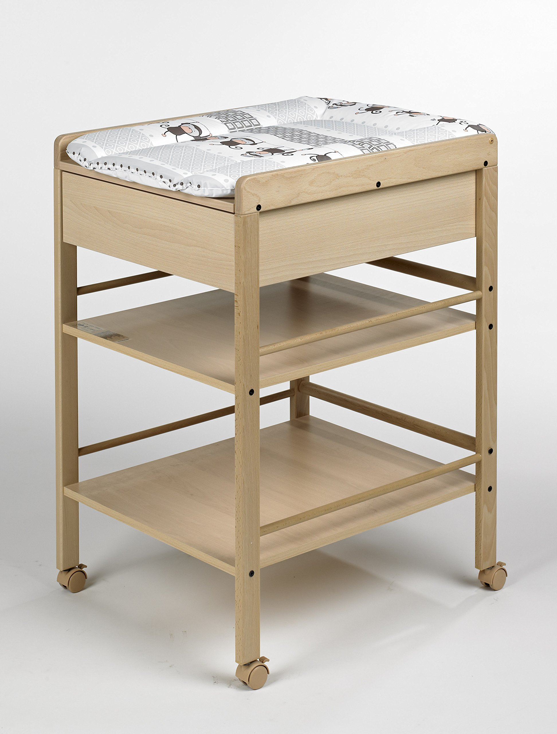 """Geuther Lotta Changing Table (Natural) Geuther Geuther strive to minimise Volatile Organic Compounds """"VOC's"""" used in the manufacturer of product which means much less gas or odour emissions. Geuther use the highest quality beech wood grown in Germany in most of their manufacturing which makes their wooden products sturdier,longer life,and much more resilient to knocks and bangs. Geuther use only water based lacquers and paints which means nothing toxic is present in any of their furniture. 2"""