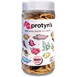 Protyn Whole Dried Black Soldier Fly Larvae Treat - Food for Arowana, Flowerhorn, Oscar and Other Carnivorous Fish - High Pro
