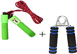 GIABELLA Fitness Jumping Skipping Rope for Gym Training, Exercise and Workout With Counting meter And Foam Hand Grip Strengthener, Exerciser Gripper for Gym, Men, Forearm, Wrist Finger, Musicians, Exercising, Gymnastics with Best Handle