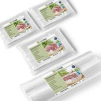 culivac Vacuum Food Sealer Bags 100 PCS 16x25cm // 50 PCS 20x30cm // Vacuum Food Sealer Rolls 2 PCS 30x600cm - Original…