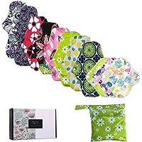 ZCOINS 11 pièces Multi-taille serviette hygiénique lavable Léger Moyen flux abondant, et 1 sac de rangement