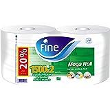Fine, Sterilized Kitchen Towel, Mega Roll, 325 meters, pack of 2, 3000 sheets