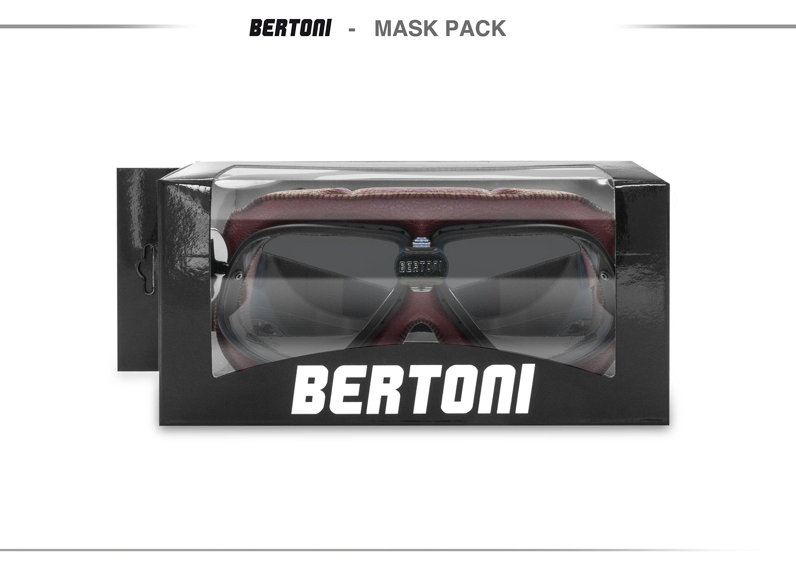 Masque moto aviateur style rétro vintage Bertoni 7