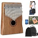 Kalimba Pouce Piano 17 clés, portable et facile à utiliser, piano à doigts avec manuel d'apprentissage et marteau d'accordage