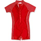 Playshoes UV Sun Protection All-in-One Polka Dot Swimsuit Meisjes Badpak