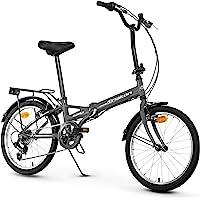 Anakon Folding Vélo de Sport Pliable Unisexe pour Adulte Gris