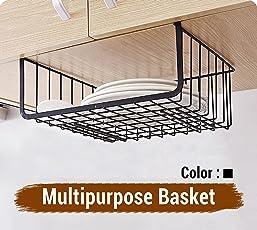 Tied Ribbons Under Shelf Organizer Basket