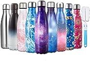 HGDGears Bottiglia Acqua in Acciaio Inox - Senza BPA, Borraccia Termica Isolamento Sottovuoto a Doppia Parete, Borracce per B