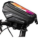 TEUEN Borsa Telaio Bici Impermeabile Borsa Porta Cellulare Bici Borsa da Bicicletta Manubrio con Touchscreen TPU, Borsa Smart