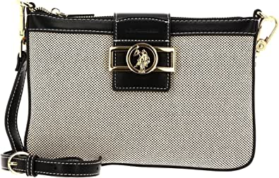 U.S. POLO ASSN. Lockhart Crossbody Bag Natural/Black