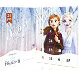 Disney Frozen 2 Jewellery Calendar with Anna Elsa, Kids Calendars Includes 24 Surprise Fashion Jewellery Gifts Bracelet Necklace with Charms and Pendants, Christmas Calendars For Girls