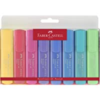 Bolsa 8 marcadores Faber flúor pastel
