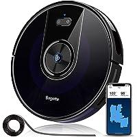 Aspirateur Robot Laveur de Sol Puissante 2200 Pa, Bagotte BG800 3 en 1 Robot Aspirateur Connecté Wi-Fi avec Réservoir D'eau 300ML, Navigation Précise du Gyroscope et Suivi Optique, 6.9cm Super Fin