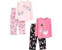 Simple Joys by Carter's Niñas conjunto de pijama 4 piezas