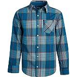 Ben Sherman Boys Camisa de manga larga con botones (azul marino/puntos rojos, 10/12)'