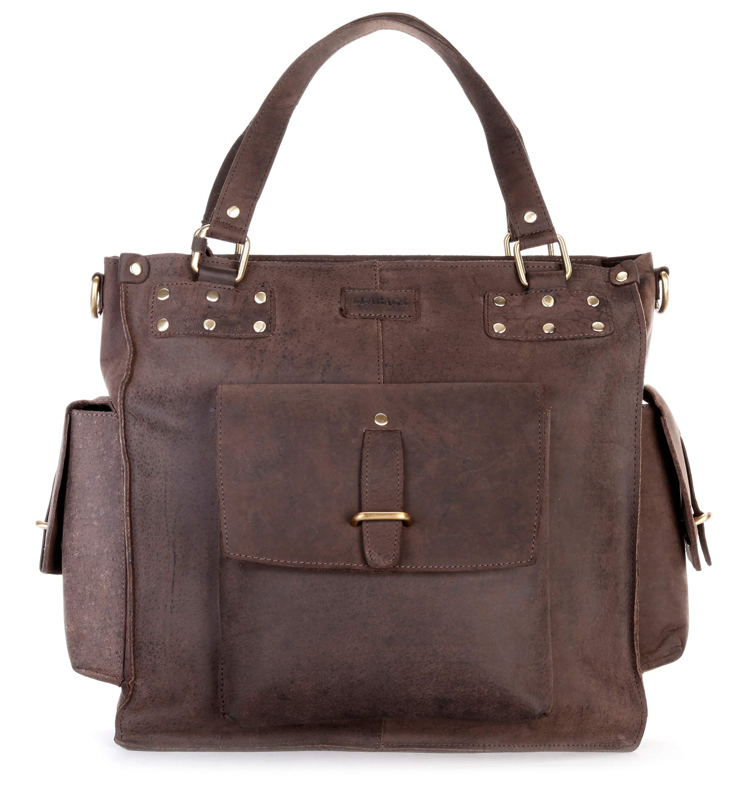 Richmond Leder Handtasche von LEABAGS, TOP Qualität
