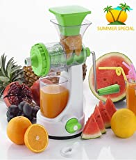 Vivir® Galaxy Hand Juicer For Fruits And Vegetable With Steel Handle And Juice Collector (Assorted Colours)