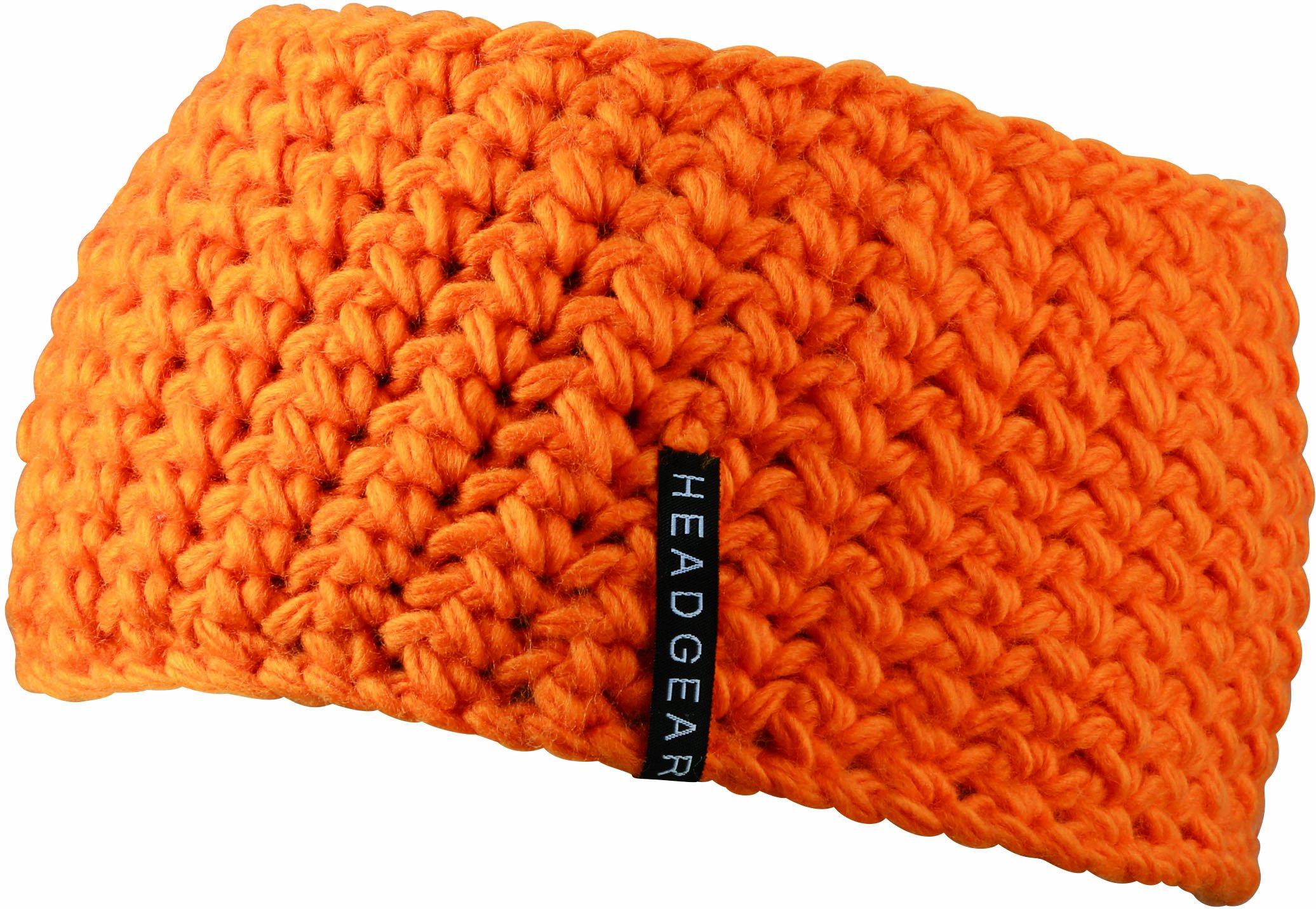 Myrtle Beach Damen Stirnband Crocheted Headband, orange, One Size, MB7947 or