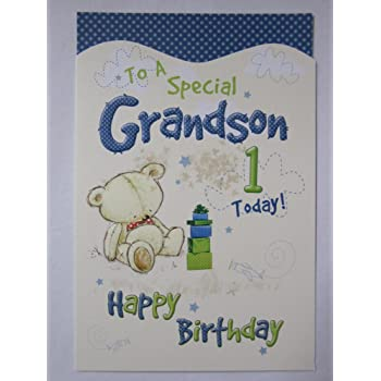 Wonderful Colourful To A Special Grandson 1 Today 1st Birthday