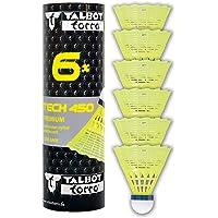 Talbot-Torro Tech 450 Badmintonbälle - 6er Dose, verschiedene Farben/Geschwindigkeiten wählbar (weiß/gelb…
