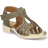 Steprite Glitter Sandals for Kids Girls