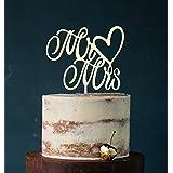 Cake Topper, Mr & Mrs, taartprikker, taartfiguur acryl, taartstandaard etagère bruiloft bruidstaart taartopsteker (ivoor) art