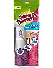 Scotch-Brite Microfiber Multipurpose Wipe (Pink and Purple, Pack of 2)