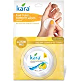 Kara Nail Polish Remover Wipes, Lemon, 30 Pulls