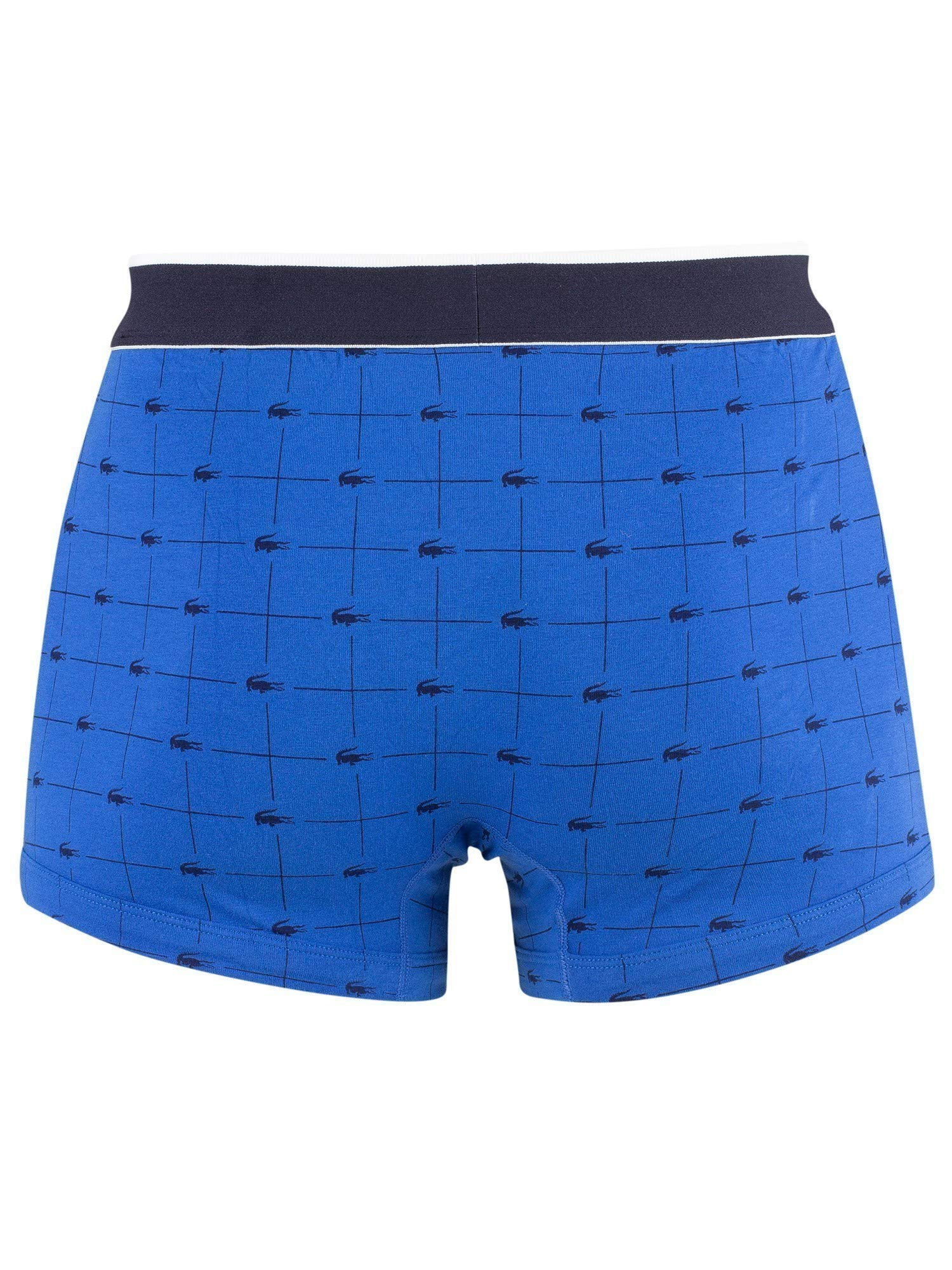 Lacoste – Colores – 3er Pack Signature Trunks – Calzoncillos Bóxer – Azul Marino