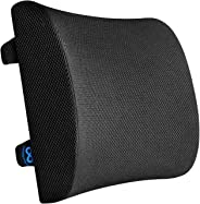 Everlasting Comfort 100% Pure Memory Foam Back Cushion - Orthopaedic Design for Back Pain Relief - Lumbar Support Pillow Wit