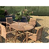 chelsea home and leisure ltd TEAK FOLDING TABLE WITH STACKING CHAIRS TEAK GARDEN FURNITURE