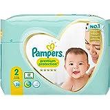 Pampers Maat 2 Premium Protection Luiers, 32 Stuks, onze Nummer 1 Luier voor Zachtheid en Bescherming van de Gevoelige Huid (