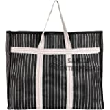 Sanjis Enterprise Canvas & Polyester Grocery Shopping Bags with Strong Reinforce Handles and Base Heavy Bag/Multipurpose Stor