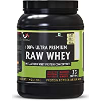 Advance Musclemass 100% Raw Whey Protein Supplement Powder (Unflavoured) 1 Kg 2.2 Lb (33 Servings)