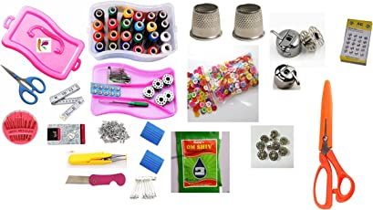 Kriwin Big Tailoring Travel Sewing Kit   250 + Sewing Supplies With 2 Scissors & 2 Cutters