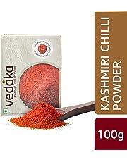 Amazon Brand - Vedaka Kashmiri Chilli (Lal Mirch) Powder, 100g