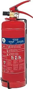 Smartwares FEX-15122 Estintore di Polvere Tipo di Fuoco ABC, Capacità 2 kg, Rosso